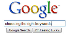 choosing the right keywords for website optimization