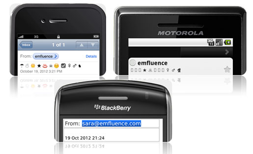 Symbols on mobile devices