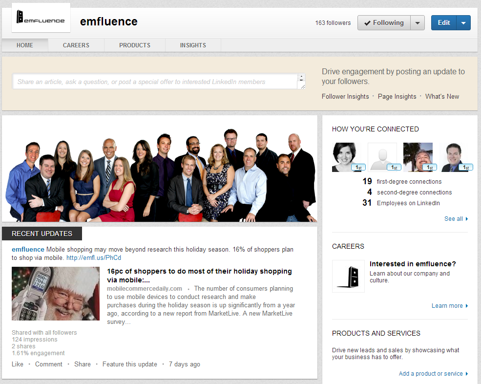 LinkedIn's New Digs – Company Page updates