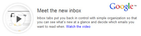 email marketers take a look at the new Gmail inbox with tabs