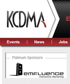 emfluence is the happy website sponsor of the KCDMA