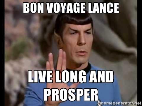 Bon Voyage Lance!