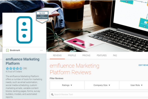 emfluence Marketing Platform Named High Performer by Users