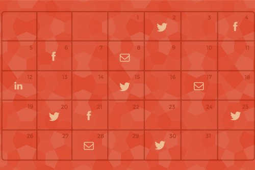 social media calendar for the academic year