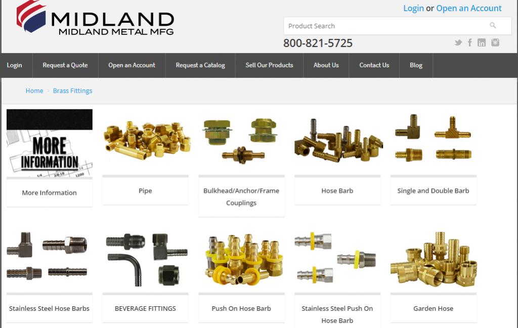 Midland Metal B2B ecomm