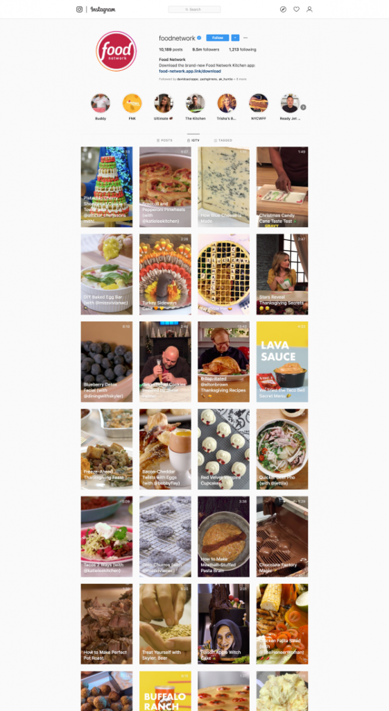 Food Network IGTVsm