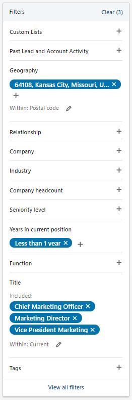 Sales Navigator Lists